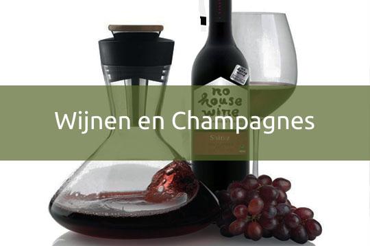 wijnen en champagnes