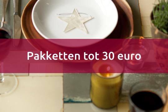 pakketten tot 30 euro