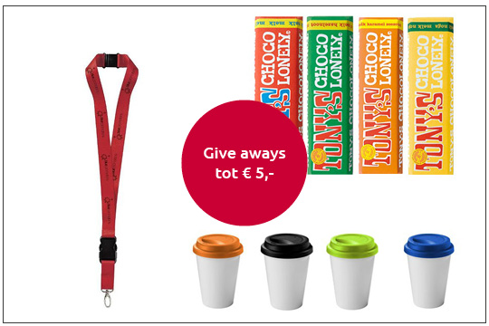 duurzame give-aways tot 5 euro