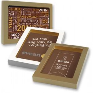 Chocolade logo kaart