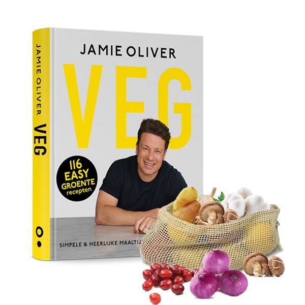 Jamie Oliver kookboek VEG in Veggie bag