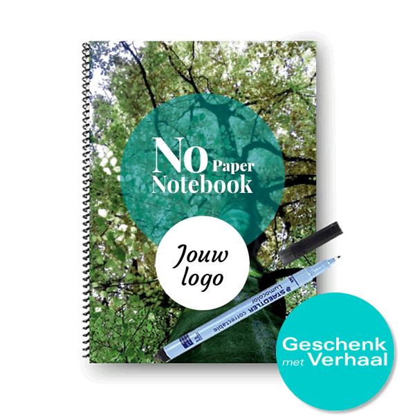 No Paper Notebook met jouw logo op de cover | A5