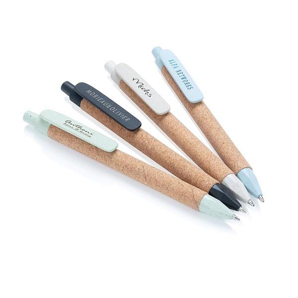 Eco tarwestro pen met kurk